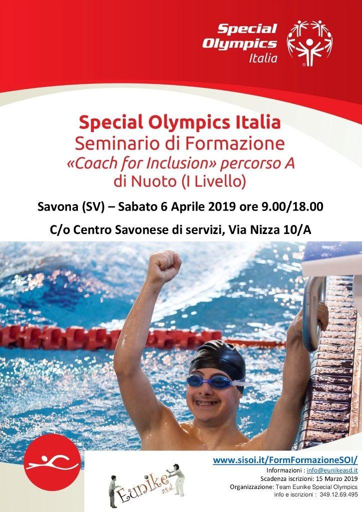 locandina seminario nuoto eunike